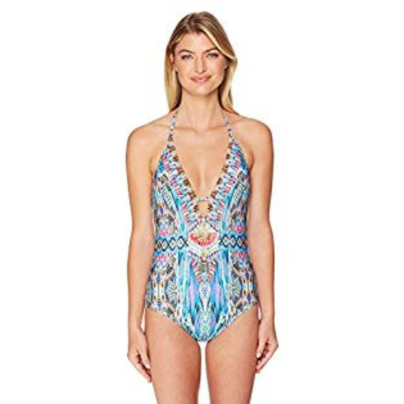 Laundry By Shelli Segal Other - NWT Laundry By Shelli Segal Abstract Feathers swim